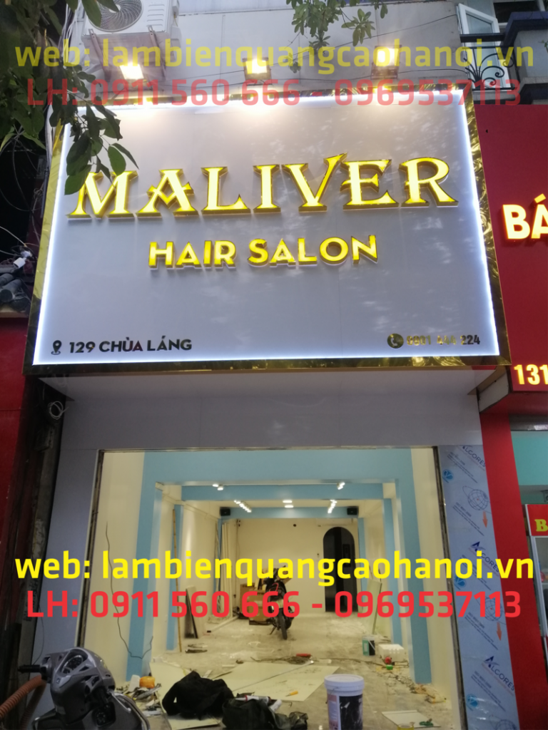 biển hiệu alu salon tóc đẹp