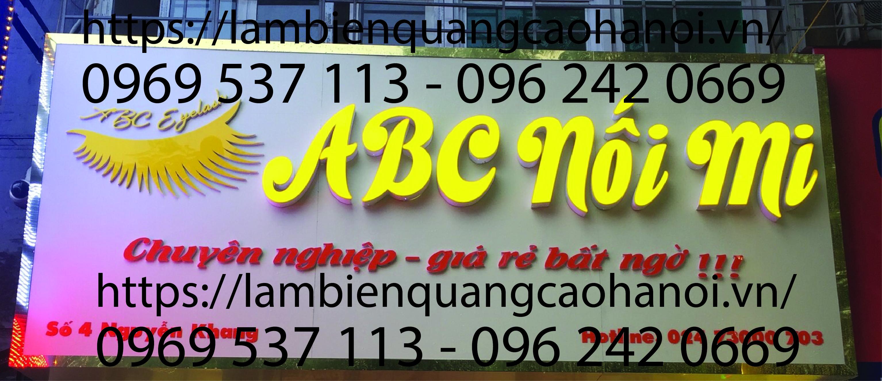 Làm biển quảng cáo chữ nổi giá rẻ tại Mỹ Đình, Hà Nội