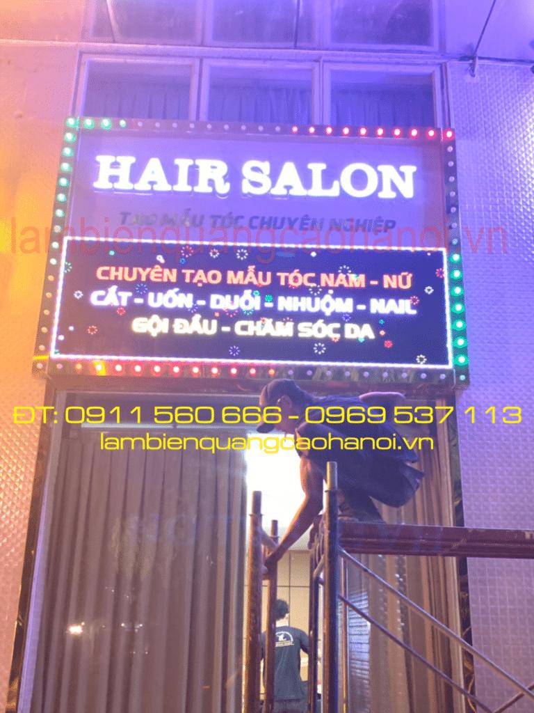 Thiết kế thi công biển hiệu Salon tóc