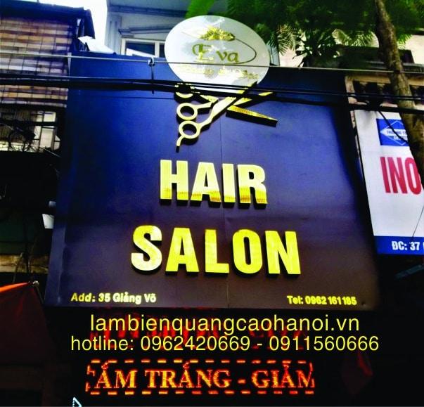Làm Bảng Hiệu Tiệm HAIR SALON TÓC